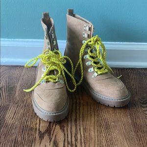 Forever 21 Shoes - Forever 21 Contrast Lace-Up Hiking Boots
